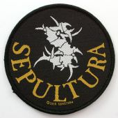 Sepultura - 'Logo and Name' Woven Patch